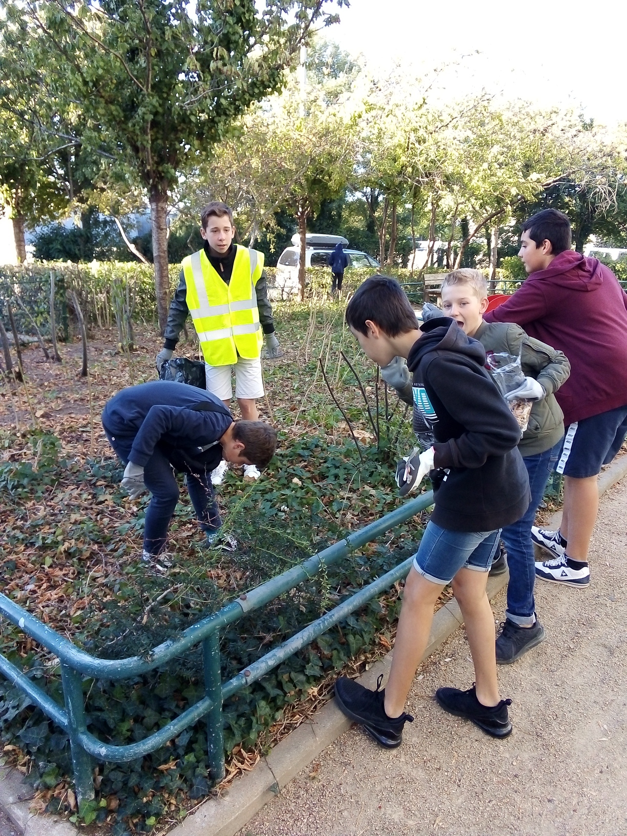 Opération Clean Up Collège Le Marin